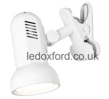 Endon 776 White Spotlight Clamped