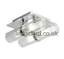 Endeon EL-20052 chrome ceiling light with 4 lamps IP44