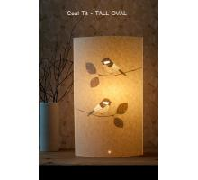 Range of Coal Tit design Table Lamps Small Round and oval